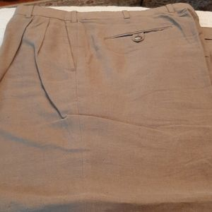Brooks Brothers 1]0% linen pleated & cuffed pants